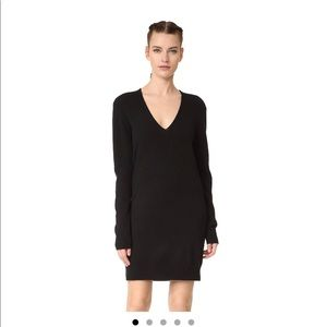 Black Cashmere Sweater Dress